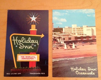 Vintage 1970's Holiday Inn Postcards - Ft. Lauderdale and St. Augustine