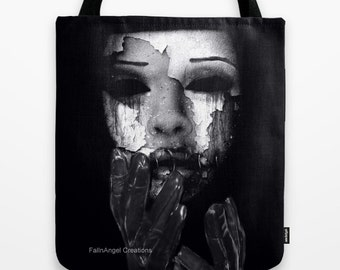 Gothic Tote Bag, My Mask, 3 Sizes Available