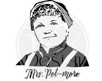 """5"""" x 5.4"""" Mrs. Pot-more 