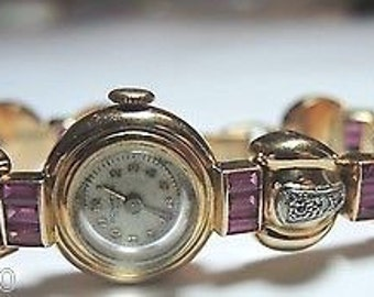 Retro Bonheur Ladies Diamond Ruby Watch