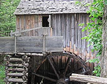 Old Mill, Smoky Mountains, Rustic Art,  Archival Giclee Print, Photography Print, 10 x 13