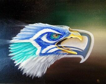 "Seahawk Spirit 8x10"" Giclee Print"