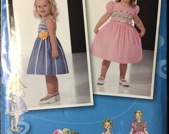Girls' Party Dresses Sewing Simplicity 2430  Size 4-8 Uncut  Complete