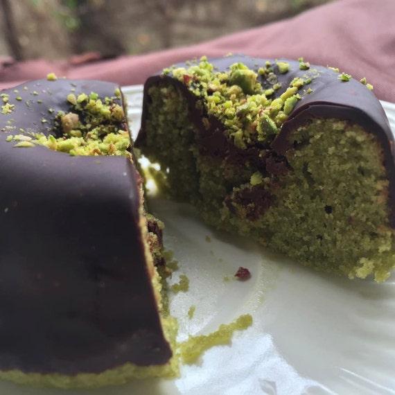 Vegan Gluten free  Matcha  Green Tea Dark Chocolate Pistachio donuts 6pcs
