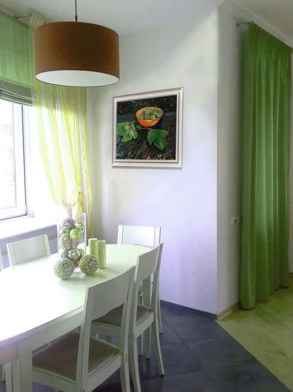 Moderne Trauben Stillleben warme Farbe Wand Kunst Speisesaal