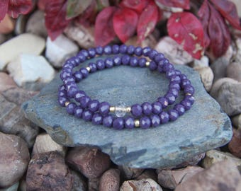 Purple Crystal beaded bracelets