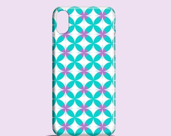 Kaleidoscope iPhone X case / Turquoise iPhone 8 case / iPhone 7 Plus / geometric iPhone 6S case / graphic iPhone 6 case / Samsung galaxy