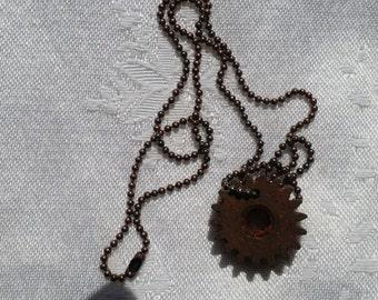 steampunk cog necklace