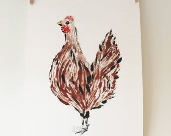 Chicken Giclee Print Illustration
