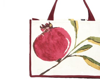 Pomegranate Farmers Market Bag - Shopping Bag - Reusable