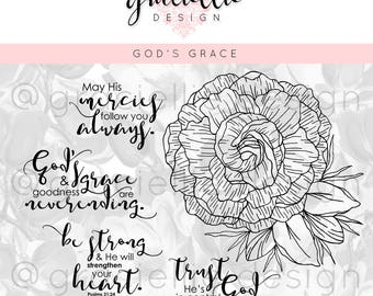 God's Grace Digital Stamp Set