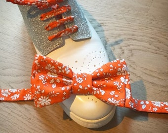 Duo bow tie, shoes, custom