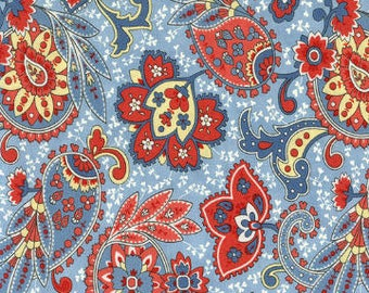 Anns Arbor Blue 14842 15 - Moda Fabrics 100% Cotton Quilting Fabric by Minick and Simpson