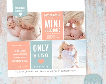 Mother's Day Mini Session template - Photoshop Template - IM001- INSTANT DOWNLOAD