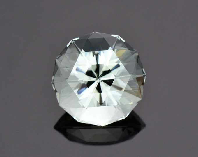 Exceptional Large Aquamarine Gemstone from Brazil, 21.22 cts., 18 mm., Custom Glitter Cut Round Shape.