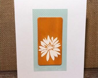 White Flower Handmade Card