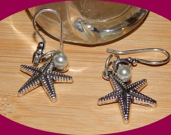 Starfish with Pearl Earrings