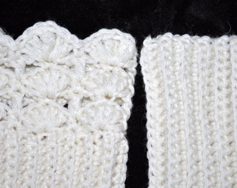 In Stock! PURE WOOL Boot CUFFS Popular Beautiful Stay Warm Vanilla Cream Wear Several Different Ways Boot Top Accessory Wool Crochet or Knit