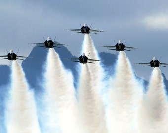Blue Angels on Delta Formation  Art Poster Print