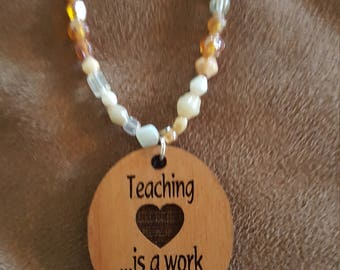 Teachers necklace/pendant