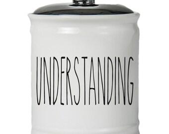 Understanding Word Jar With Lid - Money Coin Jar - Money Bank - Money Jar - Money Jar With Lid