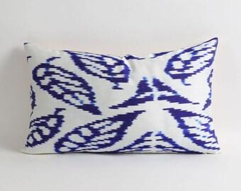 Ikat pillow, handwoven ikat throw pillow cover, 12x20 decorative ikat pillow, accent pillows
