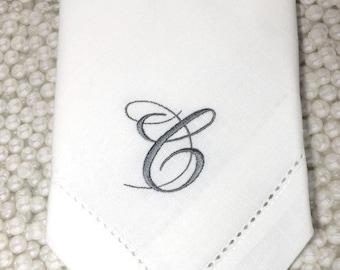 Bliss Monogrammed Napkins, wedding Embroidered Cloth Dinner Napkins, wedding linen napkins, elegant monogram, wedding napkins, personalized