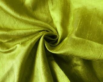 Pure Silk Fabric, Pure Dupioni Silk Fabric, Silk Fabric, Indian Silk Fabric, Lawn Green Silk Fabric