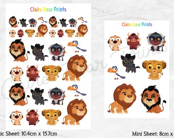 LION Planner Stickers (2 options)