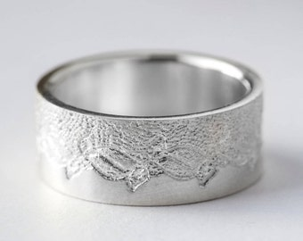 Platinum Wedding Ring, Anniversary Ring, Platinum Wedding Band, Platinum Lace Ring, Unique Platinum Ring, For her