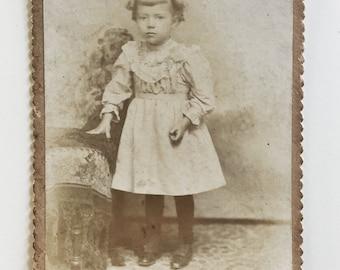 Original Antique Cabinet Card Photograph | Samantha