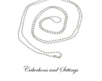 10 x  Stainless Steel 2.4mm Ball Chain Necklace Chain  3 Lengths to Choose From  - AUSTRALIA