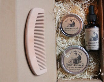 Rich Valley Apiary Beeman's Beard Care Kit. All Natural with our Beeswax. Homemade from our beehive to you!