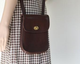 Coach Purse Brown Leather Bag Original