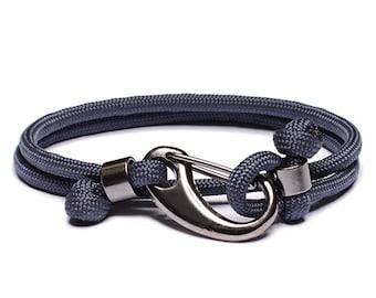 Men's rope bracelet - Parachute cord bracelet for men - Jewelry for Men - Blue Force bracelet - Military inspired