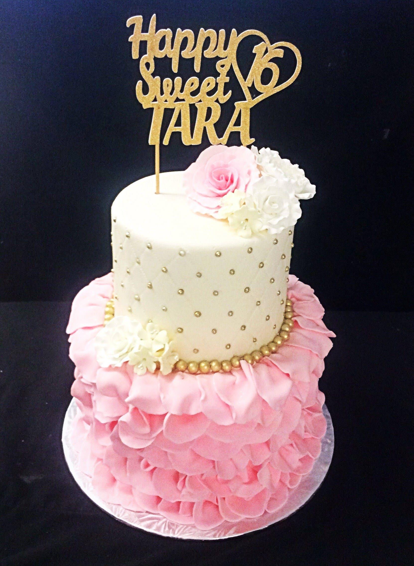 Happy Sweet 16 Birthday Cake Brithday Cake
