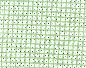 Flannel Check Fabric • Stacey Yacula Fabric • Snow Much Fun by the yard •  FLANNEL • Check-Green