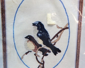 Audubon Crewel/Embroidery Kit 4 X 5  Vintage Tree Swallow  80's