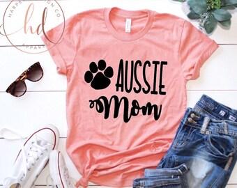 Aussie Mom • Australian Shepherd • Dog mom • Dog Lover• Bella Canvas