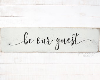 Be Our Guest Sign Wood | Be Our Guest Sign | Guest Room Sign | Guest Room Wall Decor | Guest Room Ideas | Be Our Guest Wall Sign