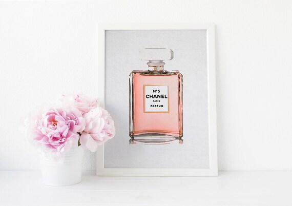 Chanel Perfume Bottle Watercolor Digital Download Instant