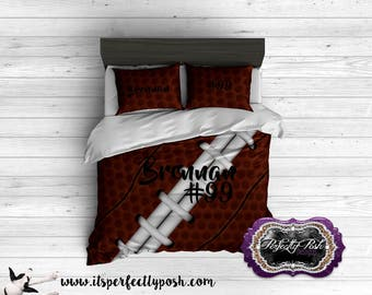 Football Theme  Bedding Custom Design and Personalized Comforter or Duvet with Monogram