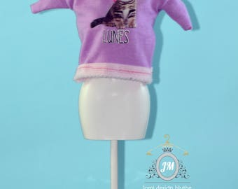 T-shirts for Dolls Blythe, Barbie, Dal, pure Neemo, Pullip, Esacala 1/6 and others