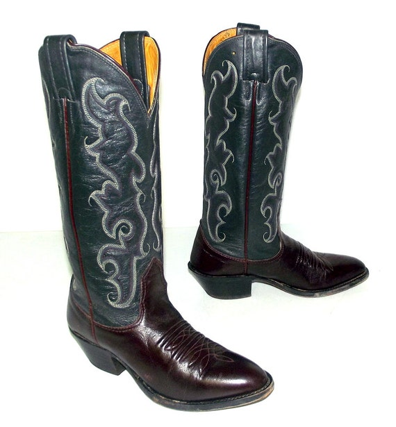womens grey brand size 5 tone and wine 5 Nocona burgundy 4 C steel boots size cowboy or Two 6WnZaRa