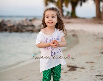 Mermaid Leggings Baby Toddler Girls Costume Little Emerald Green Aqua Blue Multi Color Fish Scale Pants Birthday Party Outfit Gift Present