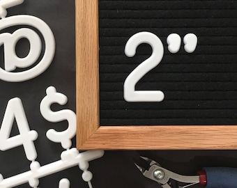 """2"""" Letter Board Letter Set - 2 INCH Letter Set with 170 Characters"""