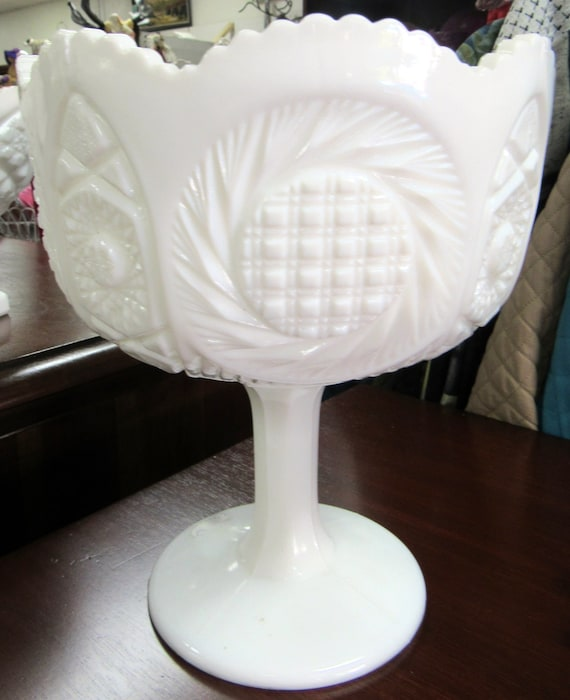 Milk Glass Bowl or compote bowl on stem