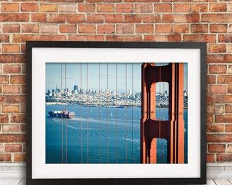Golden Gate Bridge photography, San Francisco print, travel photography, wall art, home decor
