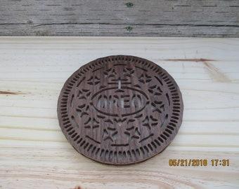 wooden oreo cookie