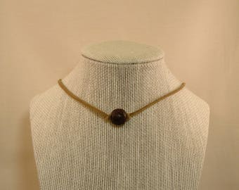 Tan and Brown Cecelia Choker